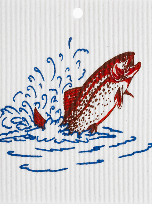 Trout Jumping by Harry W. Smith Wash Towel (MIN 6)
