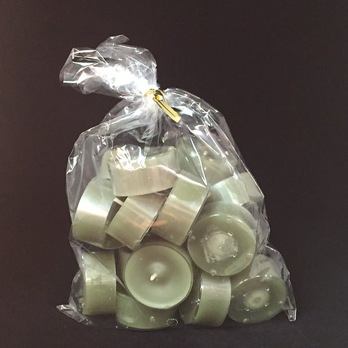Green Clear Cup Tealights