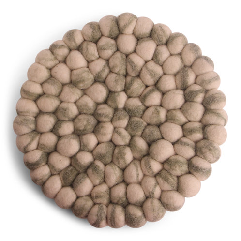 Green Round Stone Ball Trivet (MIN 4)