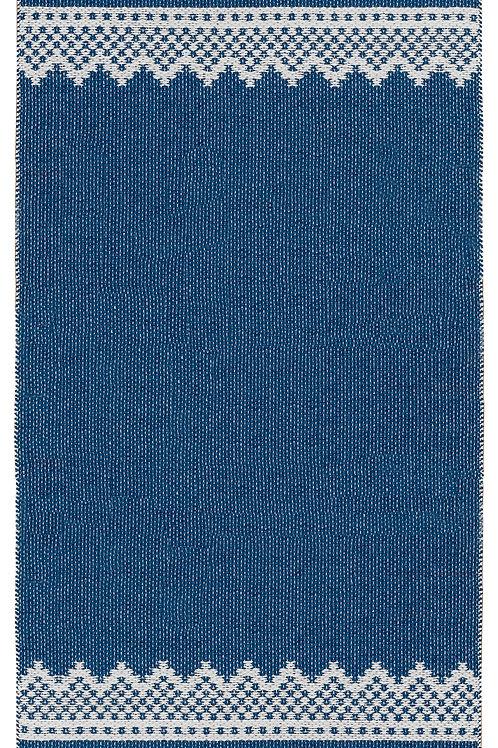 """MARIUS Blue/Red Marit Plastic Rug, 28""""x78"""""""