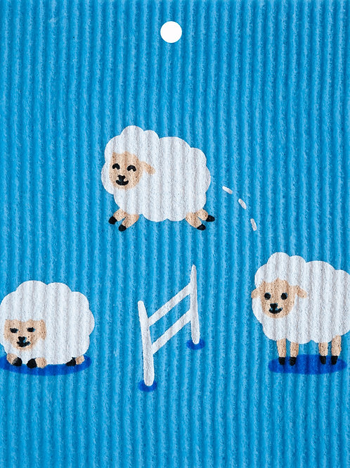 Sheep Jumping Over Fence Wash Towel (MIN 6)