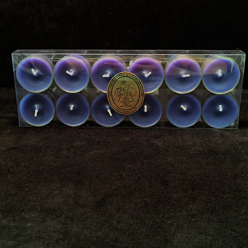 Blue Bluberry Scented Clear Cup Tealights