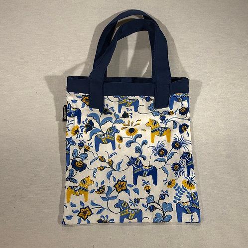 Blue Mini Dala Horse Child's Tote Bag