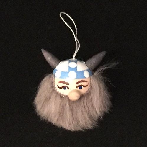 Viking Head Ornament w/Finland Helmet