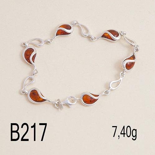 Linked Teardrops Bracelet