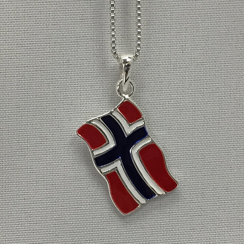 Norwegian Flag Necklace