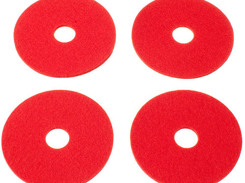 Red Rinki Coasters, Set of 4