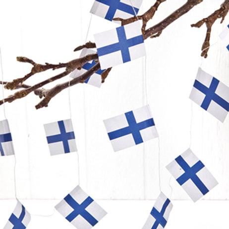 Finnish Flag Garland w/20 Flags, 2/bag