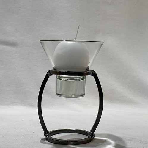 Vase Candleholder w/1 Glass Cup