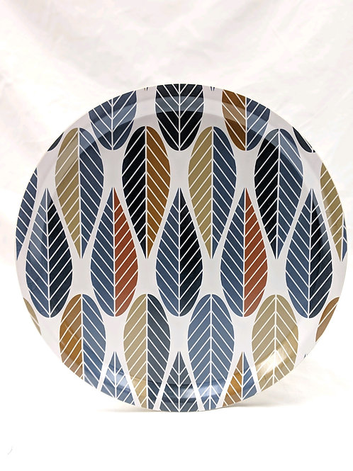 Leaves Round Serving Tray