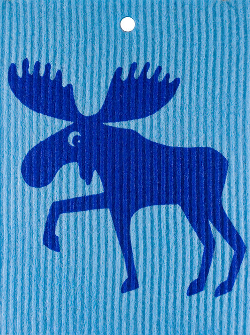 Blue Moose on Light Blue Wash Towel (MIN 6)