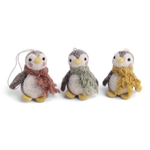 Colorful Baby Penguin Ornament, Set of 3 (MIN 8)