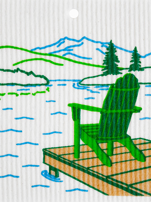 Adirondack Chair by Lake by Harry W. Smith Wash Towel (MIN 6)
