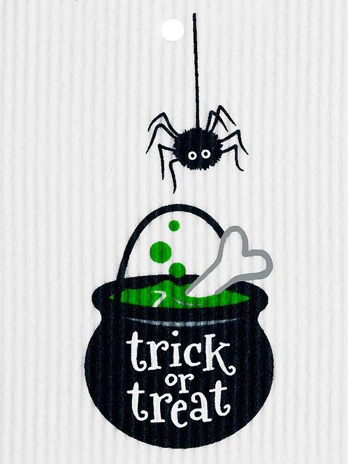 Trick or Treat Cauldron Wash Towel (MIN 6)