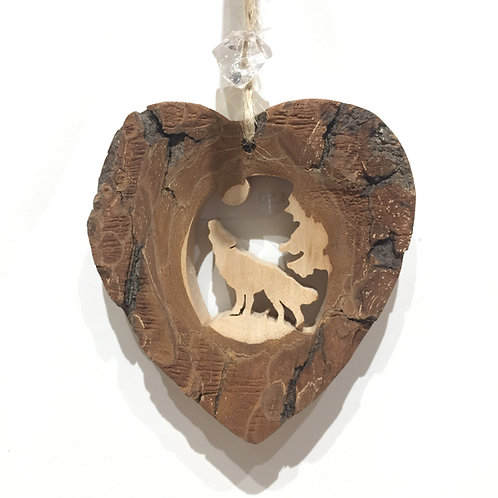 Wolf Heart Ornament