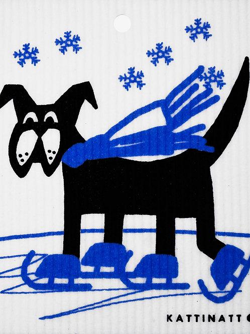 Dog on Skates Wash Towel (MIN 6)