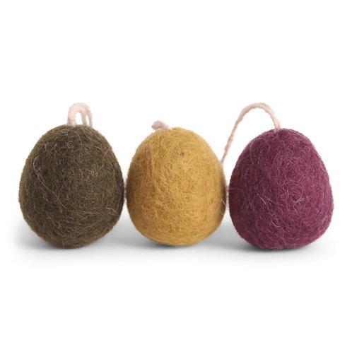 Dark Egg Ornaments, Set of 3 (MIN 8)