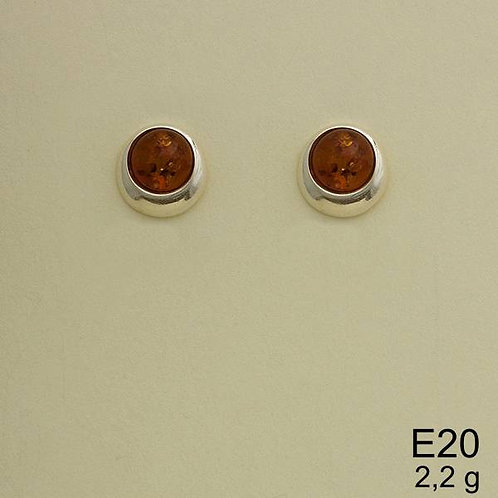 Round Earrings on Post Back