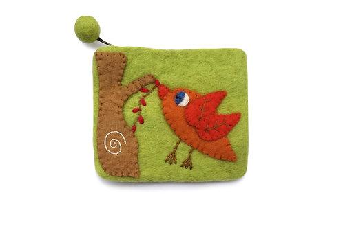 Orange Bird Purse