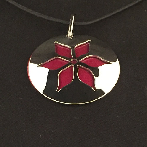 Red Lily Flower Necklace