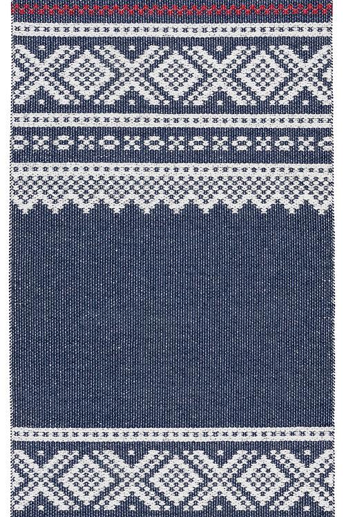 """MARIUS Blue/Red Olav Plastic Rug, 28""""x60"""""""