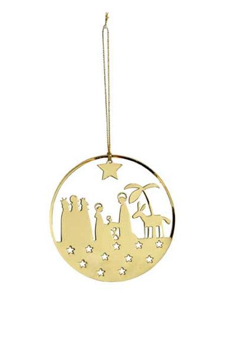 Gold Nativity Ornament