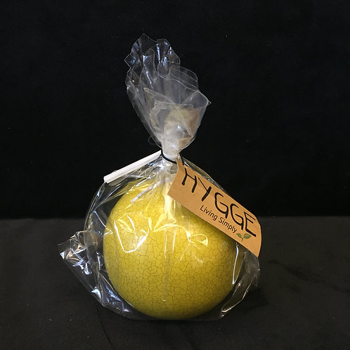 "HYGGE Blazing Yellow 3"" Crackle Ball Candle"