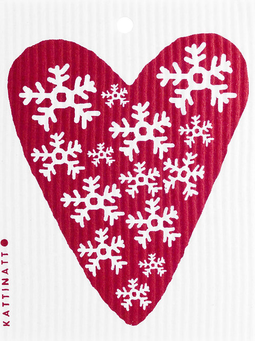 Red Heart w/Snowflakes Wash Towel (MIN 6)