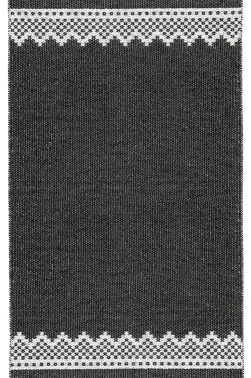 """MARIUS Black/Red Marit Plastic Rug, 60""""x78"""""""