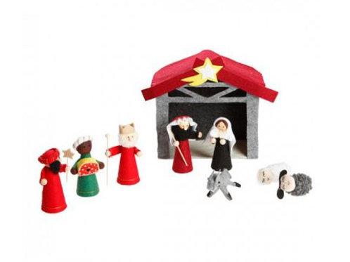 Felt Nativity w/8 Figures
