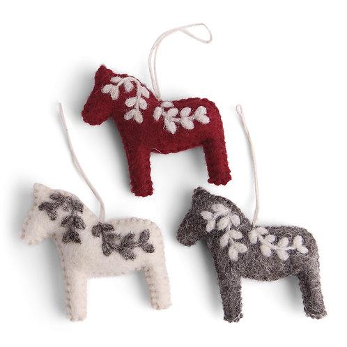 Classic Colors Dala Horse Ornament, Set of 3 (MIN 8)