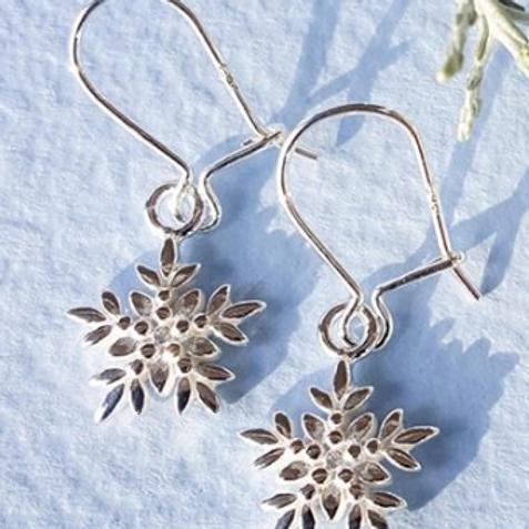 Arctic Flower Earrings on Loop