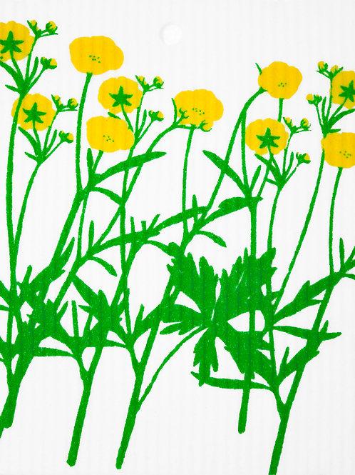 Yellow Flowers Wash Towel (MIN 6)