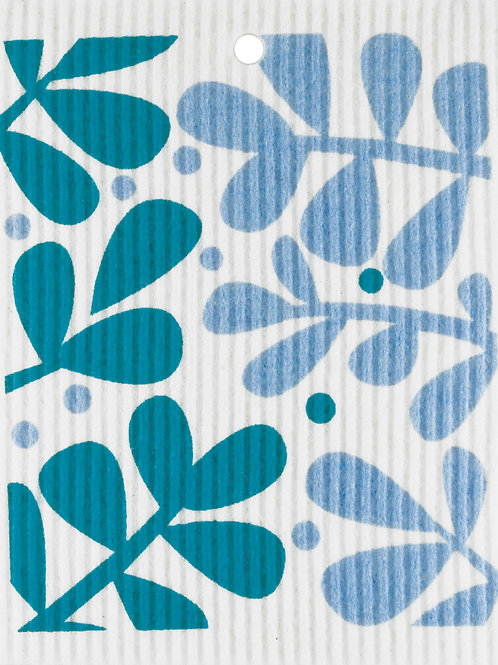 Blue Leaves Wash Towel (MIN 6)