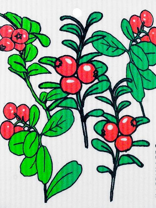 Lingonberries Wash Towel (MIN 6)