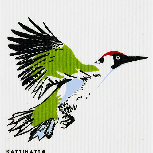 Large Green Woodpecker Wash Towel (MIN 6)