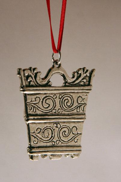 Rosemaling Tinne Ornament