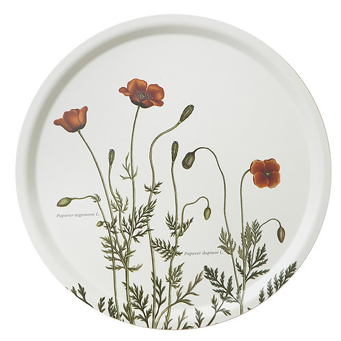 Poppies Round Serving Tray