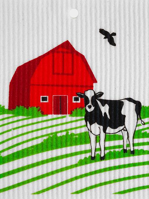 Cow & Barn by Harry W. Smith Wash Towel (MIN 6)
