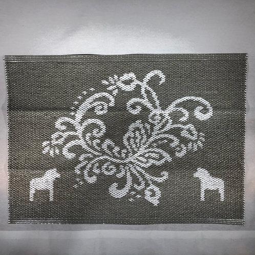 Small Grey Dala Horse Rug