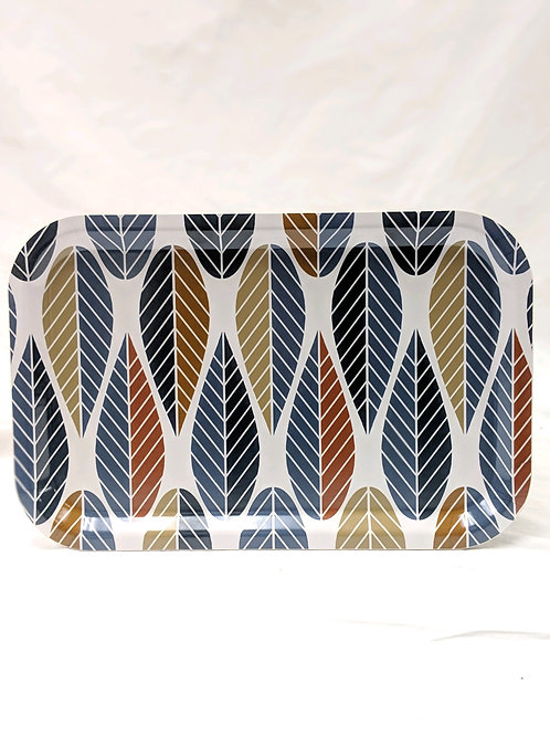 Leaves Rectangular Serving Tray