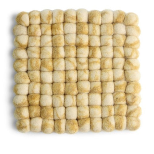 Yellow Square Stone Ball Trivet (MIN 4)