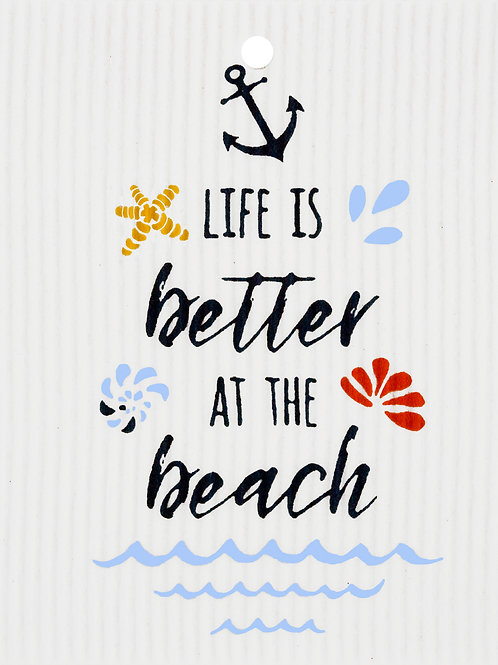 Life is Better at the Beach Wash Towel (MIN 6)