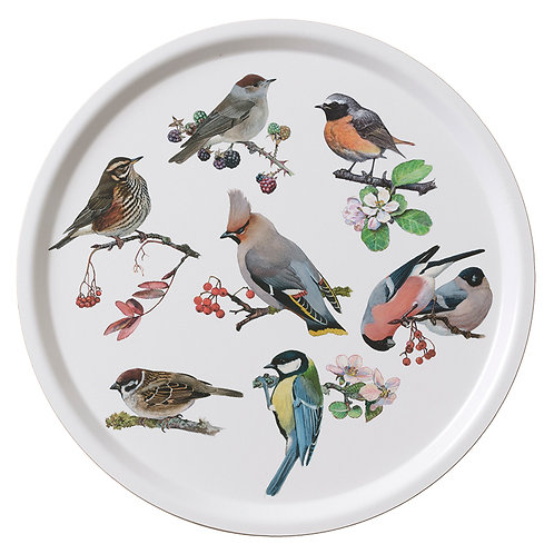 Garden Birds Round Serving Tray