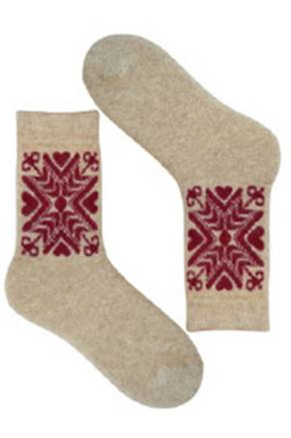 Natural Estonian Seto Women's Socks