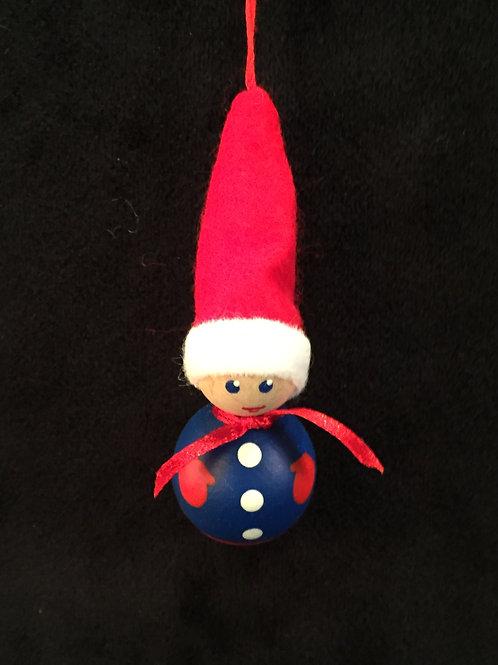 Round Nisse Ornament