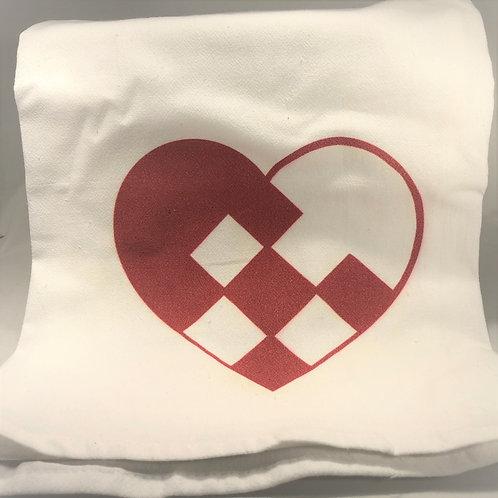 Pleated Heart Tea Towel