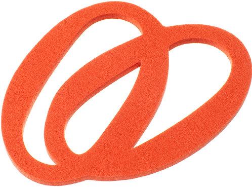Small Rosehip Orange Silmu Trivet