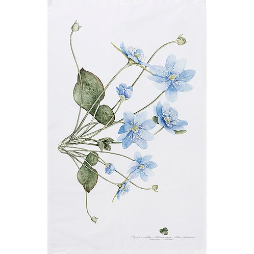 Blue Anemone Tea Towel