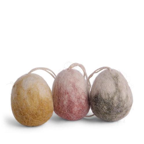 Marble Egg Ornament, Set of 3 (MIN 8)